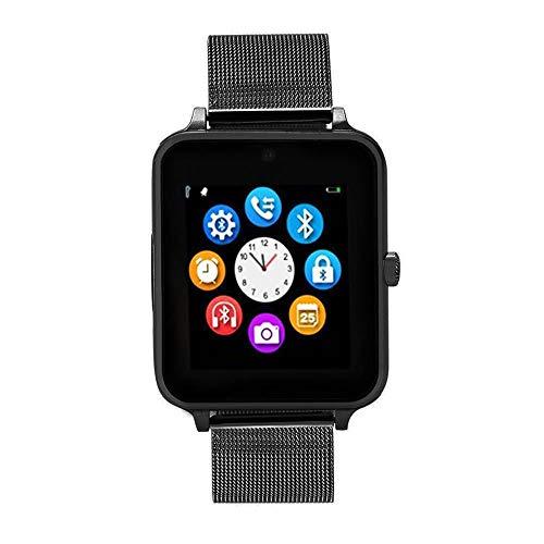 HEATLE Uhr ansehen Gute Qualität Z60 Plus Smart Watch Multifunktion Telefon Schrittzähler Sitzende Erinnerung Schlafmonitor Remote-Kamera (1PC, Schwarz)