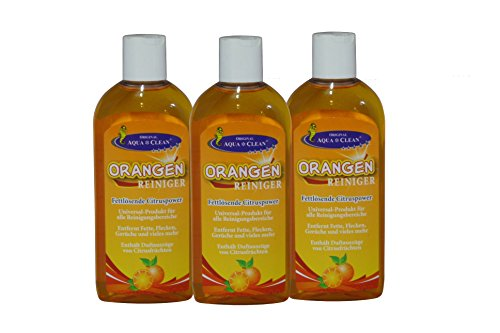 AQUA CLEAN Orangenreiniger 3x250ml Hochkonzentrat - Orange Cleaner
