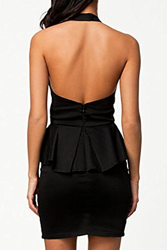 E-Girl femme Noir SY21310 robe de cocktail Noir