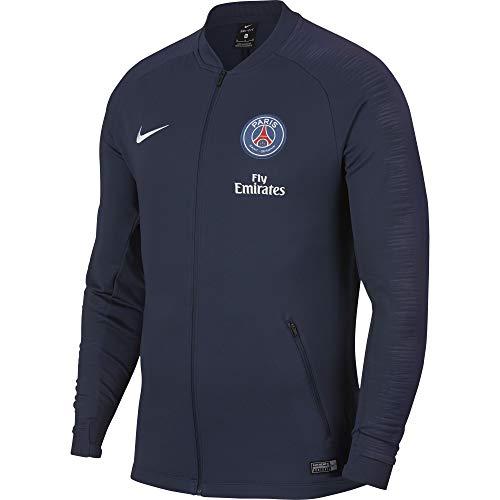 Nike Paris Saint-Germain Anthem Fußballoberteil für Herren, Jacke, L, Blau, Weiß, einfarbig, Langarm