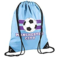 laylawson Kids Kids Football City League Gymsac Boys Girls School Shoe Swimming Drawstring Bag (One Size, Manchester City)