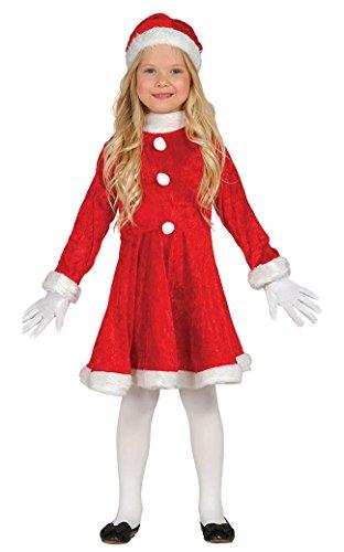 Weihnachtsmann Mädchen Kostüm - Guirca-Kostüm Mädchen Weihnachtsmann, 5-6Jahre, Rot (42832.0)