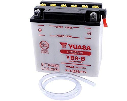 Batteria YUASA - YB9-B per KAWASAKI BN125 A1-A2 Eliminator 125 ccm anno 01-04