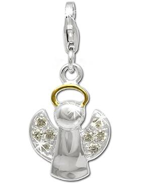 SilberDream Charm Engel Zirkonia 925 Sterling Silber Charms Anhänger für Armband Kette Ohrring FC813Y