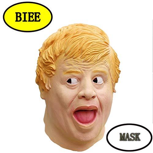 ske Latex Tiermaske Kostüm Fasching Karneval & Halloween Kostüm Erwachsene Latex Boris Johnson (Finance) ()
