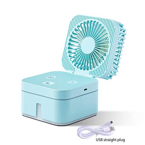 FUNRE Tragbarer USB -Luftfeuchter,250 ML Mini -Luftfeuchter Fan Portable Air Conditioner Spray Ventilatoren USB Wiederaufladbare Kühlklappen Lüfter Beauty Humidifier Mit LED Light -
