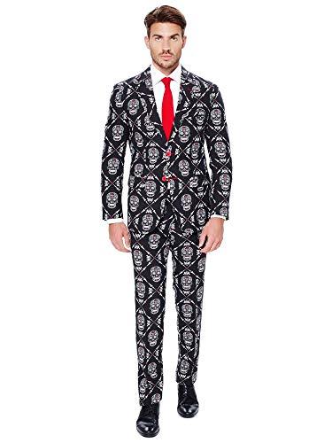 OppoSuits Faschingskostüme und Halloween Anzüge für Herren - Mit Jackett, Hose und Krawatte,Haunting Hombre,56