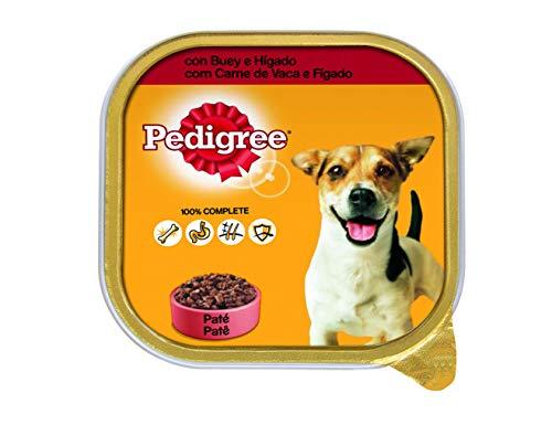 Tarrina para perros adultos de buey e hígado 300g | [Pack de 20]