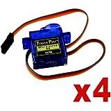 x4 Servo SG90 9g microservo 180 paso a paso. Modelismo Robótica Arduino