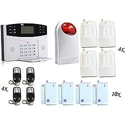 Système d'alarme, Ectech Sécurité sans fil GSM Autodial Call Home Système d'alarme anti-intrusion