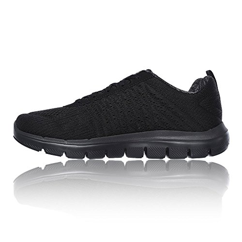 Skechers Flex Advantage 2.0-The Happs, Chaussures Multisport Outdoor Homme Black