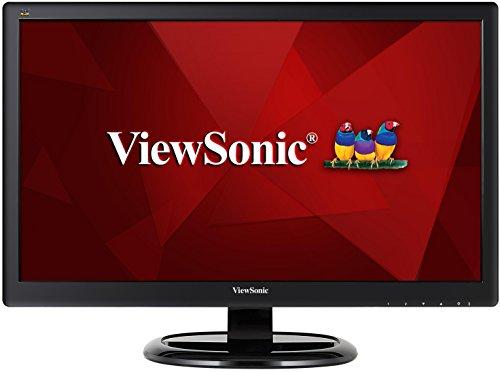 ViewSonic VA2465SM-3 24-inch LED Monitor (1920x1080 95% sRGB VGA DVI Speakers) -  Black