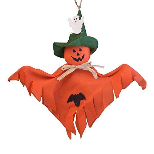Dekoration Ghost Scary Requisiten Girlande hängende Kürbis Ghost Papier für Home Party Horror Requisiten, Stoff, Orange, 38cm*31.5cm (Scary Halloween Party Dekoration Diy)