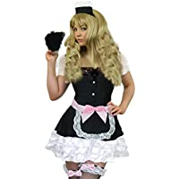 0f23868375d Yummy Bee Deluxe French Maid Costume Plus Size 8-18 Fancy Dress Ladies  Rocky Horror