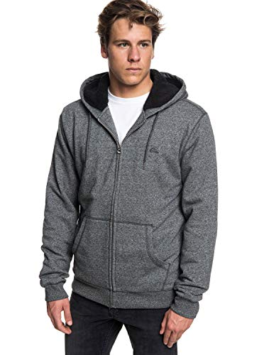 Quiksilver Everyday - Zip-Up Sherpa Lined Hoodie for Men - Männer Sherpa-lined Hoodie