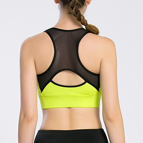 Zhhlinyuan Womens Comfortable Full Cup Sports Workout Yoga Fashion Vest Bra LWQ-0102 Light Gray