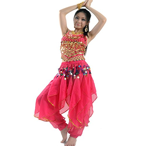 Best Dance, Bauchtanz-Kostüm-Set für Damen, Oberteil und ()