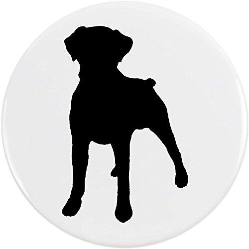 Azeeda 77mm 'Boxer Hund Silhouette' Pin Knopf-Abzeichen (BB00038738) (Boxer Hund Silhouette)