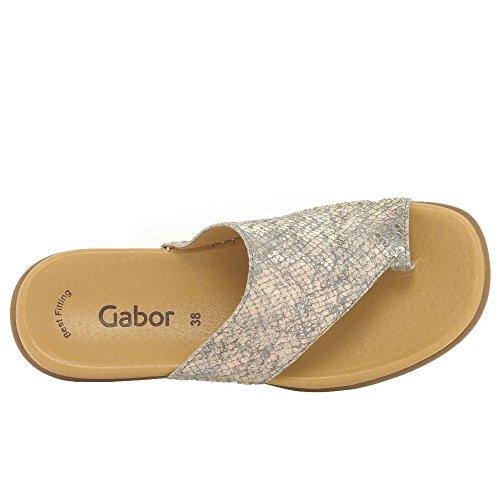 Gabor - Lanzarote N, Taupe Metallic Sandales Habillées Pour Femmes