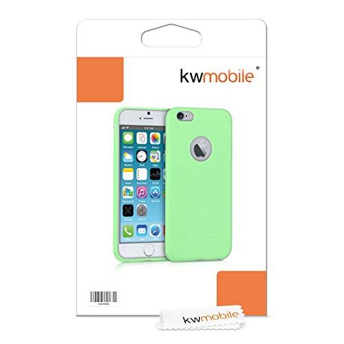 kwmobile Étui en TPU silicone élégant pour Apple iPhone 6 / 6S en rose ancien mat .vert mat