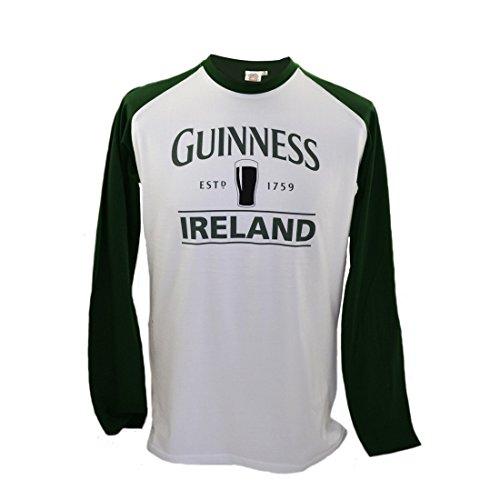 """Guinness langärmeliges T-Shirt mit Bierkrug und """"Guinness Ireland"""