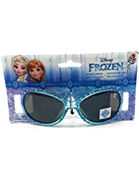 Disney Frozen Girl's Sunglasses In Aqua Blue With Elsa And Anna