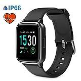 Glymnis Reloj Inteligente Smartwatch IP68 Pulsera Actividad Inteligente para Deporte 14 Modos Deportes Relojes Deportivos con Monitor Rítmo Cardíaco Hombre Mujer Negro