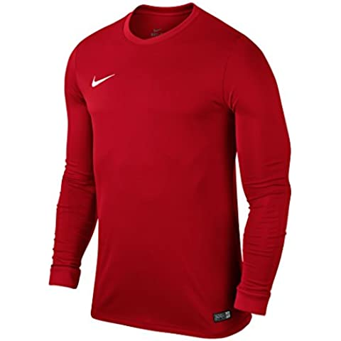 Nike LS Park VI Jsy - Camiseta para hombre con mangas largas, color rojo / blanco (university red / white), talla