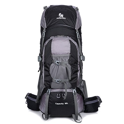 Borsa sportiva da arrampicata sportiva 80l zaino grande capacità zaino da trekking campeggio zaino (colore : nero)
