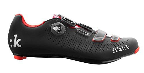 fizik Sattel R4Uomo Boa Road Fahrradschuhe, Herren, schwarz/rot, 44 -