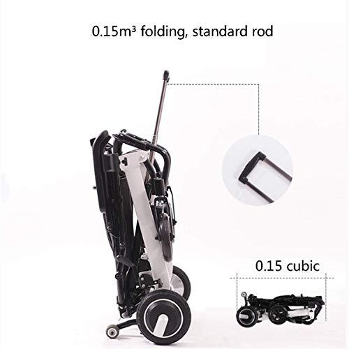 41gfQYFdI2L - Silla de Ruedas eléctrica Plegable Plegable de Peso Ligero ancianas con incapacidades Inteligente automático con Cuatro Ruedas multifunción,10ah