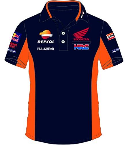 Pritelli 1818501/L Honda Repsol Moto GP Teamwear Replica Polo Camicia Ufficiale 2018, Blu