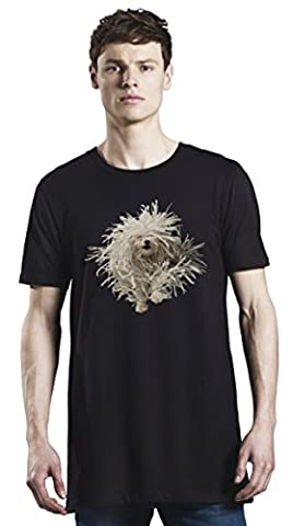 Funny Mop Dog Long T-Shirt For Men| Custom -Printed Tee| 100% Superior Organic Combed Cotton| Premium Quality DTG Printing| Unique Clothing For Men By Bang Bangin Medium