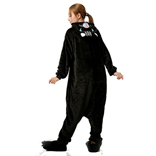 Kigurumi Pigiama Unisex Adulto Anime Cosplay Halloween Cosplay Costume Gatto NeroA