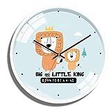 YSA Relojes de 12/14 Pulgadas Dibujados a Mano con Estilo Deco silencioso del Reloj de Pared, Adecuado para, salón, Tiendas, Habitaciones, dormitorios, oficinas Múltiples Estilos Disponibles, 12 pulg