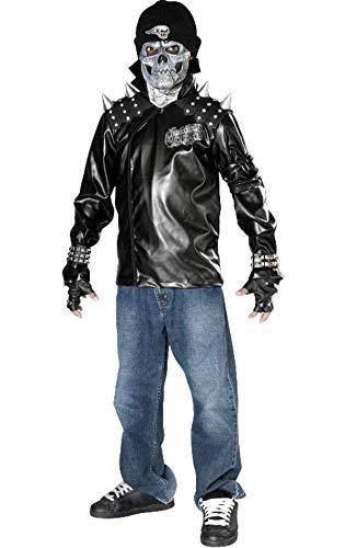 Teen Biker Kostüm - Rubies Kost-me 155852 Metallsch-del Biker Kind-Teen Kost-m Gr--e: Gro-