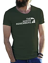 The North Remembers Game of Thrones Camiseta para Hombre
