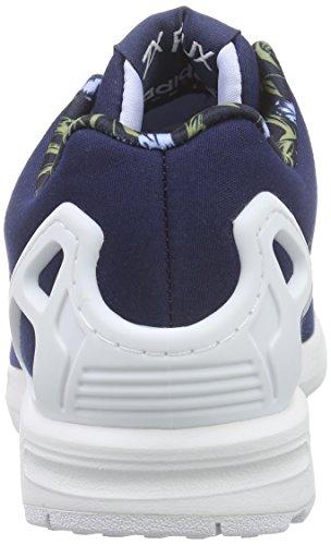 Adidas Zx Flux W Scarpe sportive, Donna Blu (Night Indigo/Periwinkle F15-St/Ftwr White)