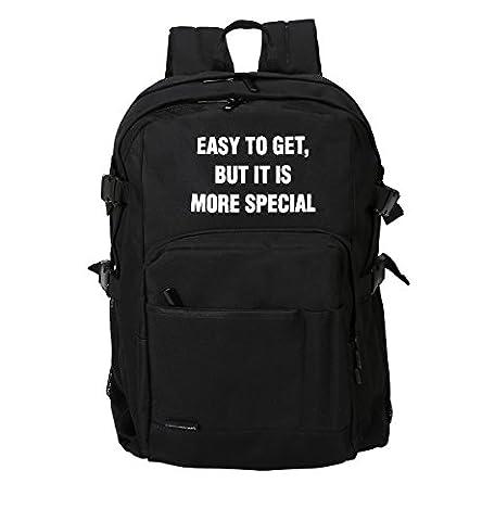Casual Daypacks unisex Teenagern Studenten Rucksack Mode Schulrucksack Outdoor Sports Tagesrucksack (schwarz / weiß )