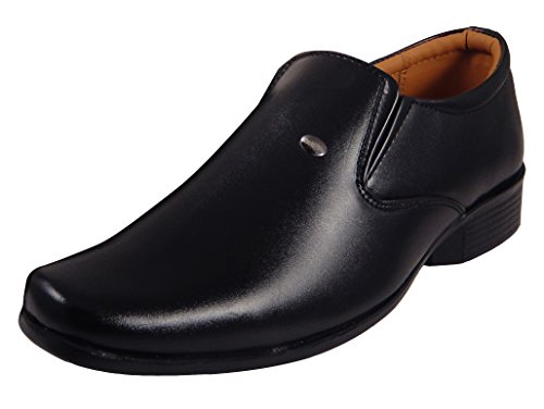 Action Synergy Men's ME9926 Black Formal Shoes