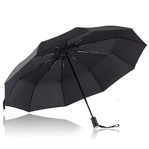 Parapluie Pliant, Bodyguard Parapluie coupe-vent 10 Ribs - Automatique Ouverture et Fermeture - '' Dupont Teflon '' 210T Parapluie Voyage, Ultra Comfo...