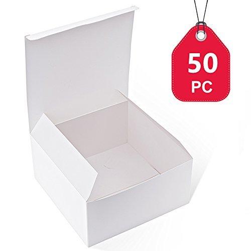 mit Deckel für Geschenke, Basteln, Cupcake-Boxen, 20,3 x 20,3 x 10,2 cm, 50 Stück ()