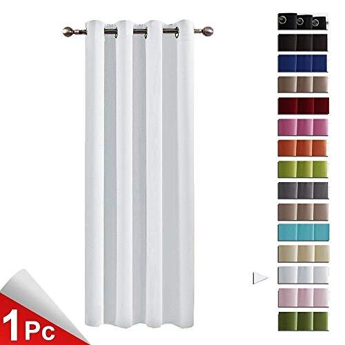 Pony dance tende eleganti bianche grigio tendaggi moderni termiche antimosche camera da letto finestre soggiorno (132 x 158 cm, 1 pannello)
