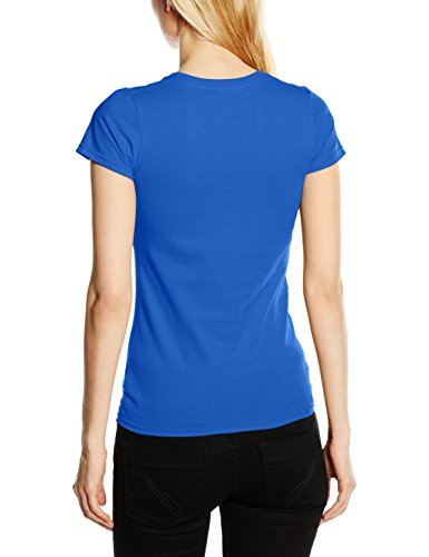 Fruit of the Loom Ss125m, T-Shirt Femme Bleu (bleu roi)