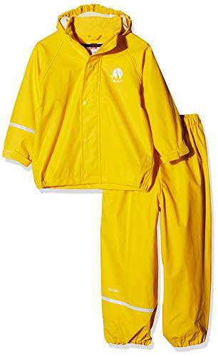CeLaVi Jungen CeLaVi zweiteiliger Regenanzug in vielen Farben Regenjacke,,per pack Gelb (Gelb 324),(Herstellergröße:100)