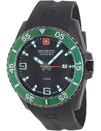 Swiss Military Hanowa - Reloj analógico de cuarzo para hombre con correa de plástico, color negro