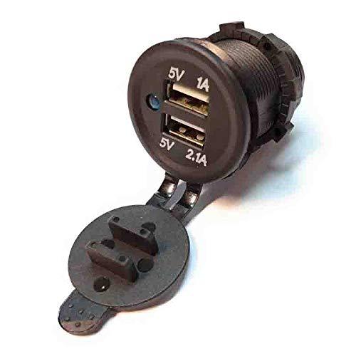 USB 2 entradas Empotrable 5v 4,2A para coche, furgoneta, camper, caravana