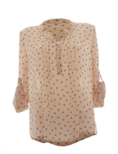 New Colection - Camicia - Tunica - A pois - Maniche a 3/4 -  donna Altrosa