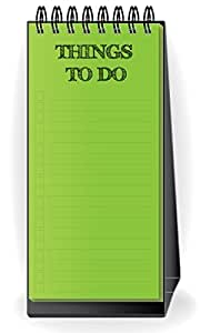 PRINTELLIGENT Desktop Things To Do List Planner Green Color