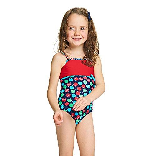 e60bb67f0 Zoggs - Bañador para niñas con Estampado de Manzanas y Espalda clásica